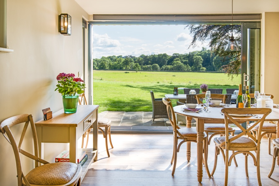 6. View from Barn Dining room overlooking meadows
