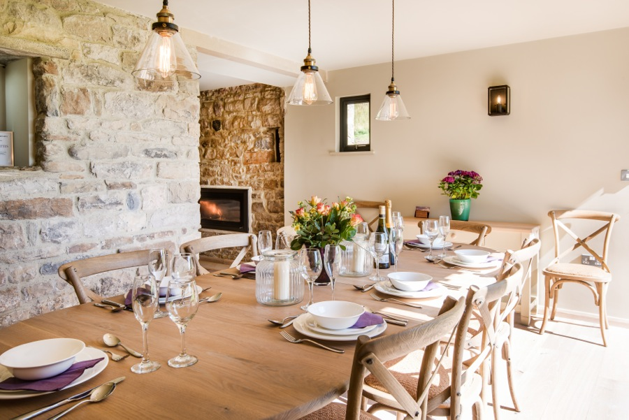 7. Barn Dining room can seat up to 14 guests