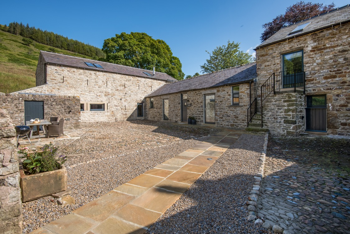 1. Cowshed cobbled yard